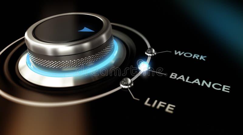 Work Life Balance royalty free illustration