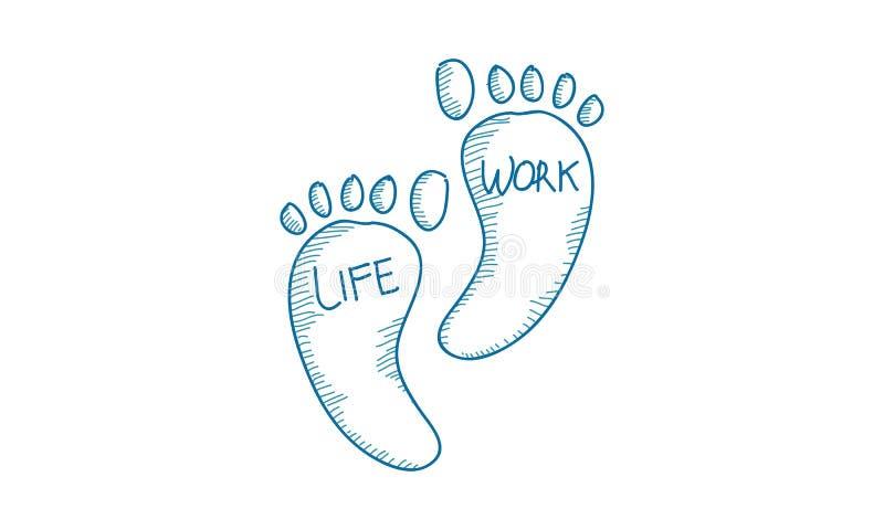 Work Life Balance Template Vector royalty free illustration