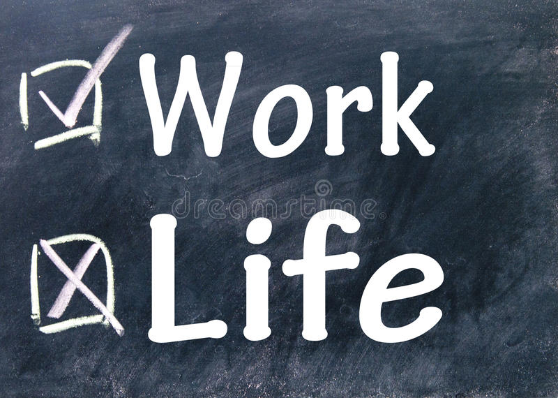 Work or life choices. Sign royalty free stock image