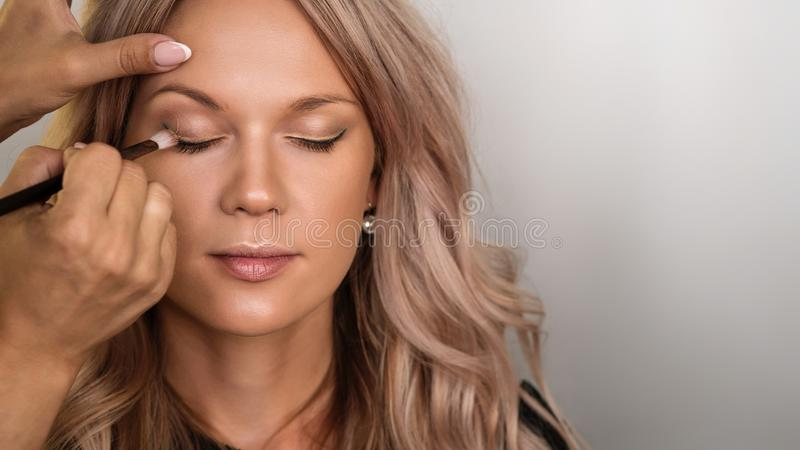 Concept of professional make up stock photos