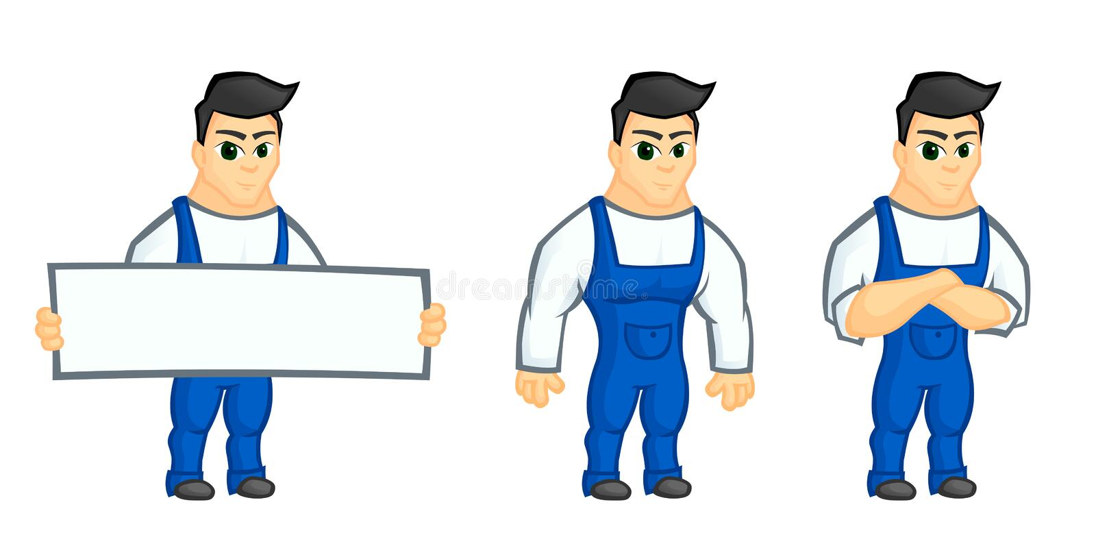 Work man mascot stock image