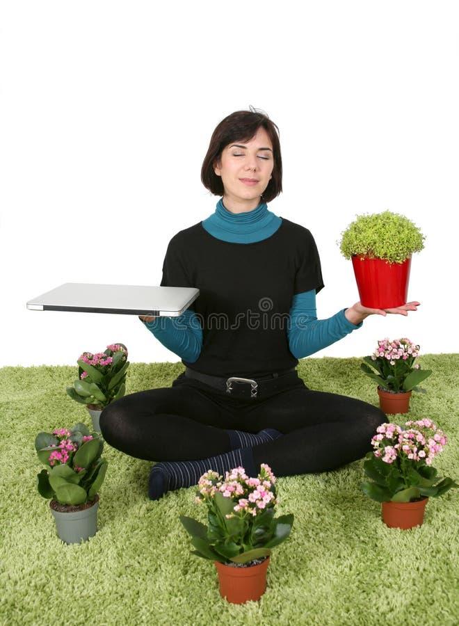 Work meditation royalty free stock photo