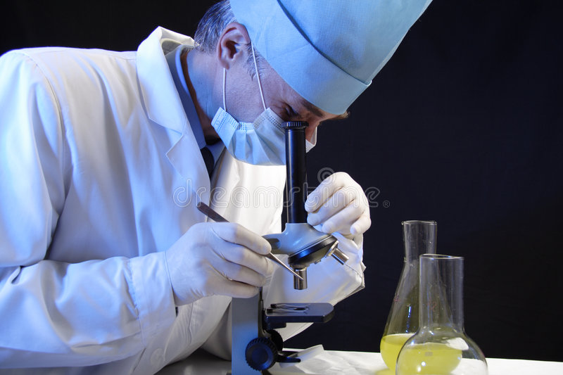 Download Work with microscope stock image. Image of people, researcher - 1847629