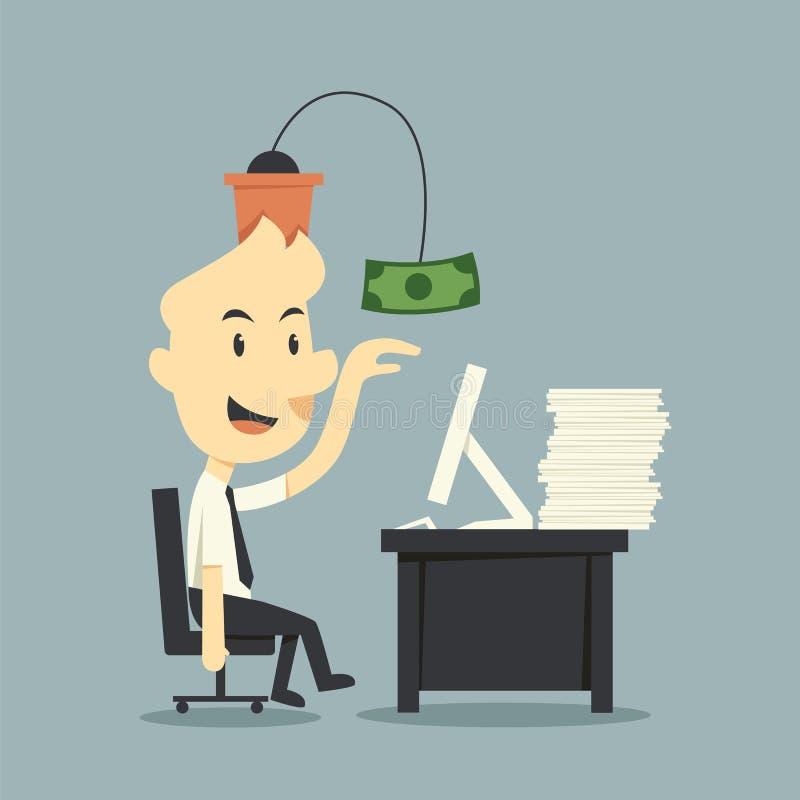 Work for money vector illustration
