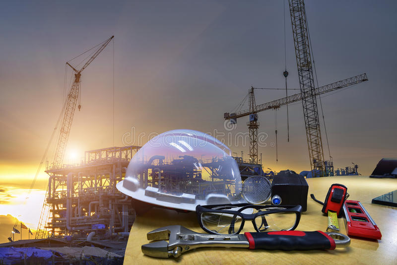 Work outdoor wear safety equipment. royalty free stock image
