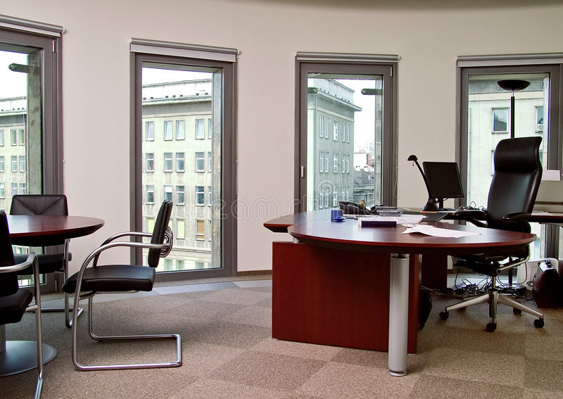 Work place. On office place royalty free stock photography