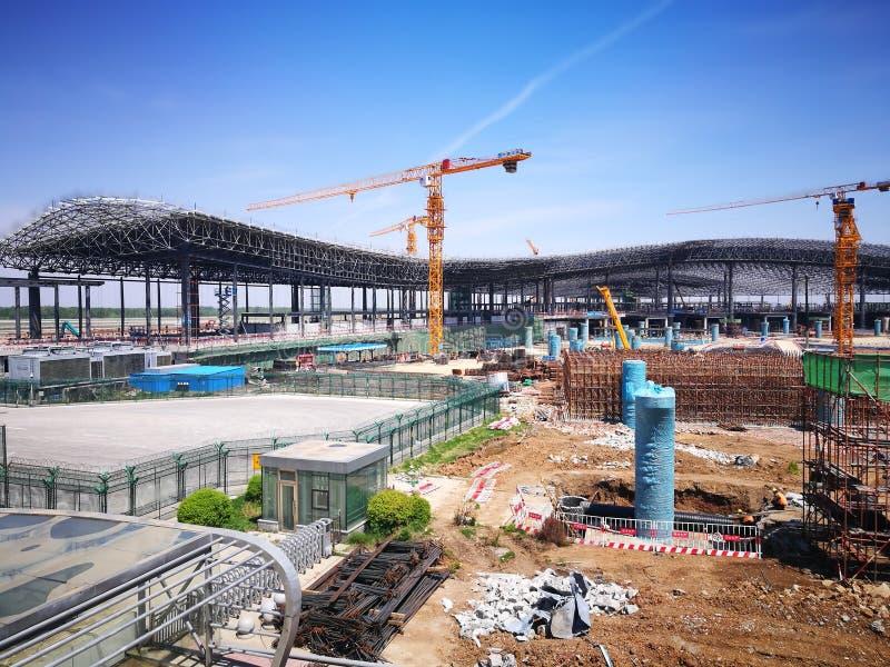 Work place for changchun longjia airport stock photos