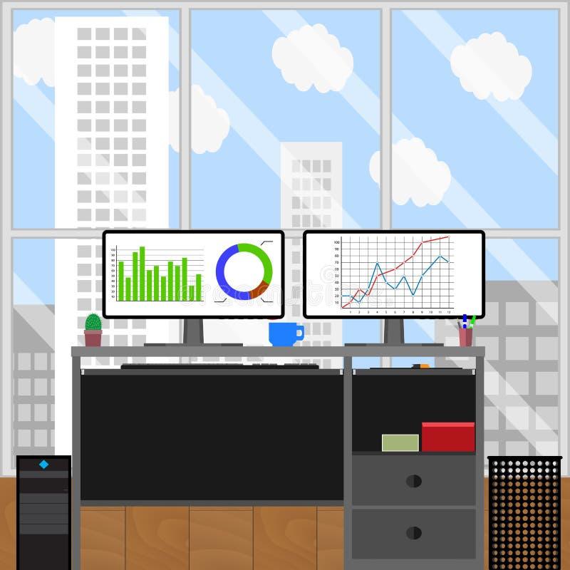 Work place jobs stockbroker royalty free illustration