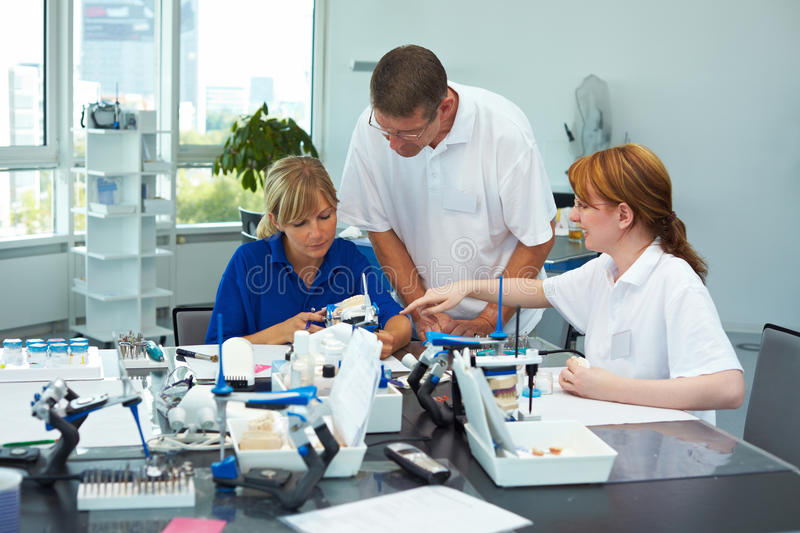 Work place in a lab stock photography