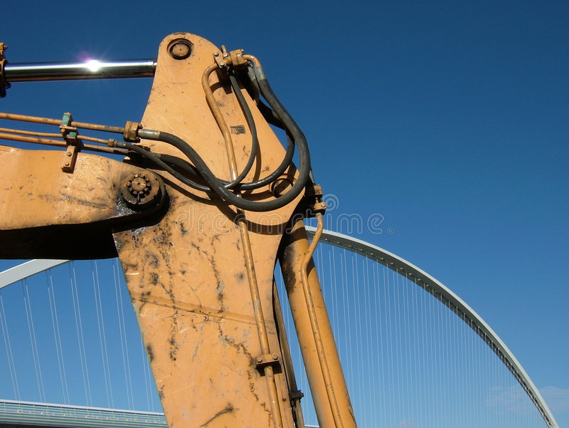Download Work In Progress - Bridge And Blue Sky Editorial Photo - Image: 1672671