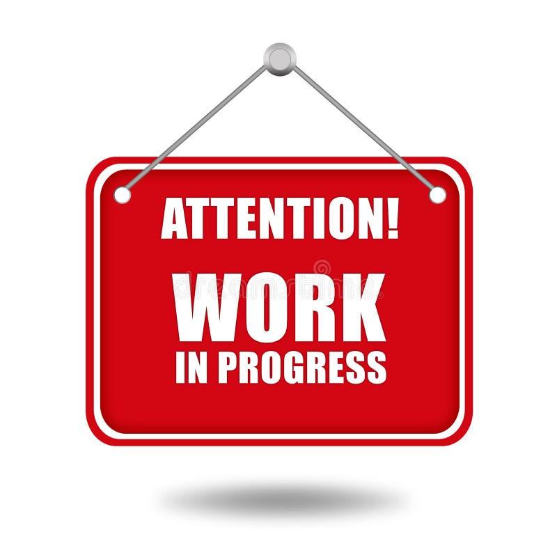 Download Work in progress sign stock illustration. Illustration of button - 24407405