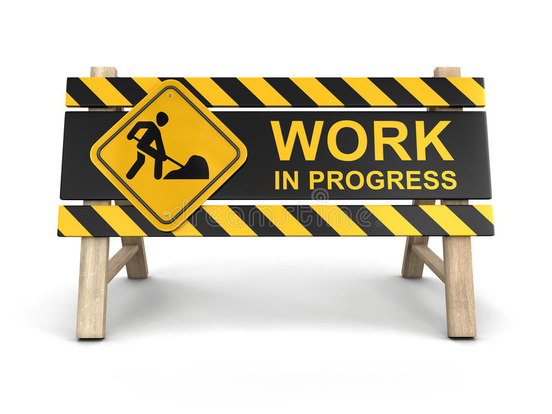 Work in progress sign royalty free illustration