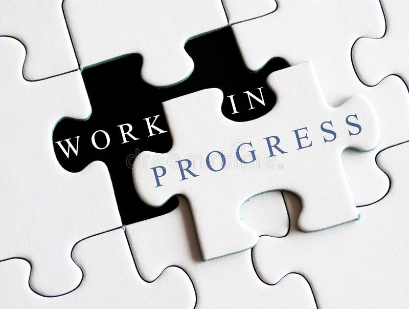 Work in progress royalty free stock image