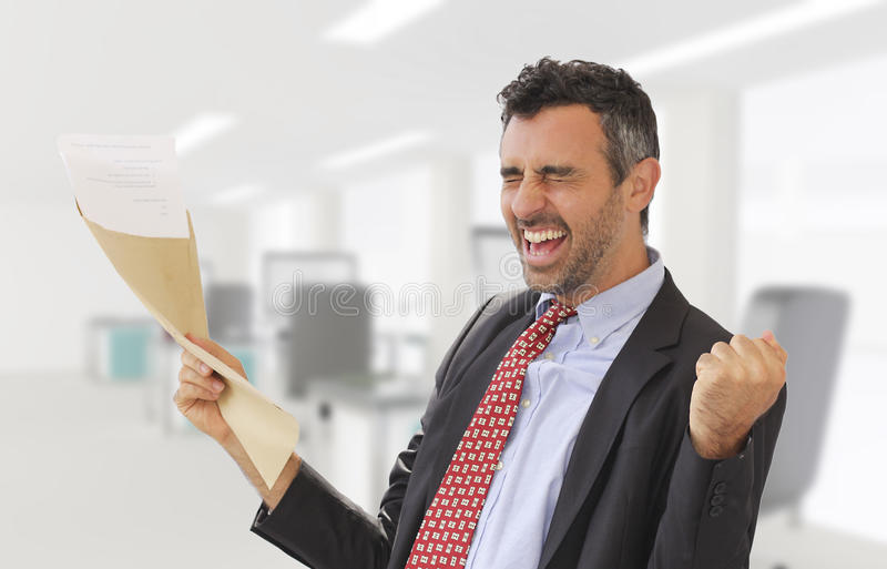 Work promotion news arrived royalty free stock photos