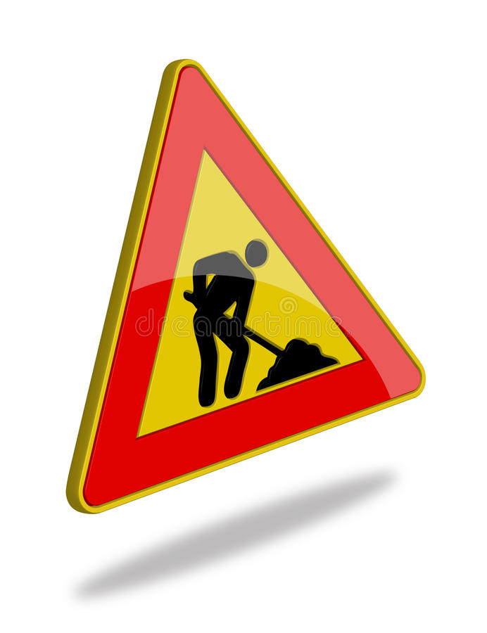 Work Road Sign Royalty Free Stock Photos