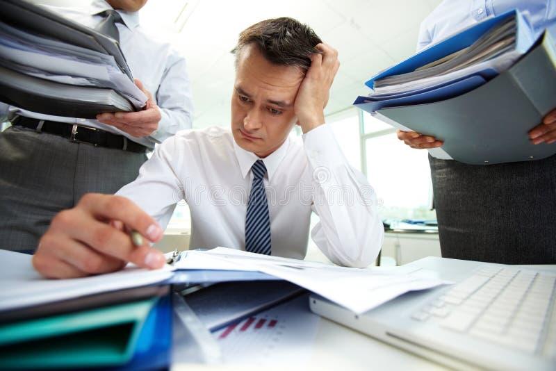 Download Work rush stock photo. Image of folder, financial, female - 33940812