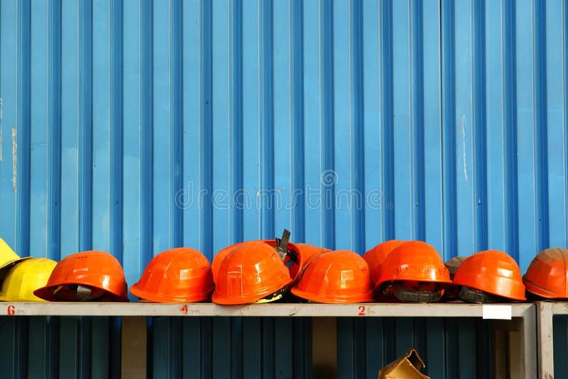 Work safety helmet royalty free stock images
