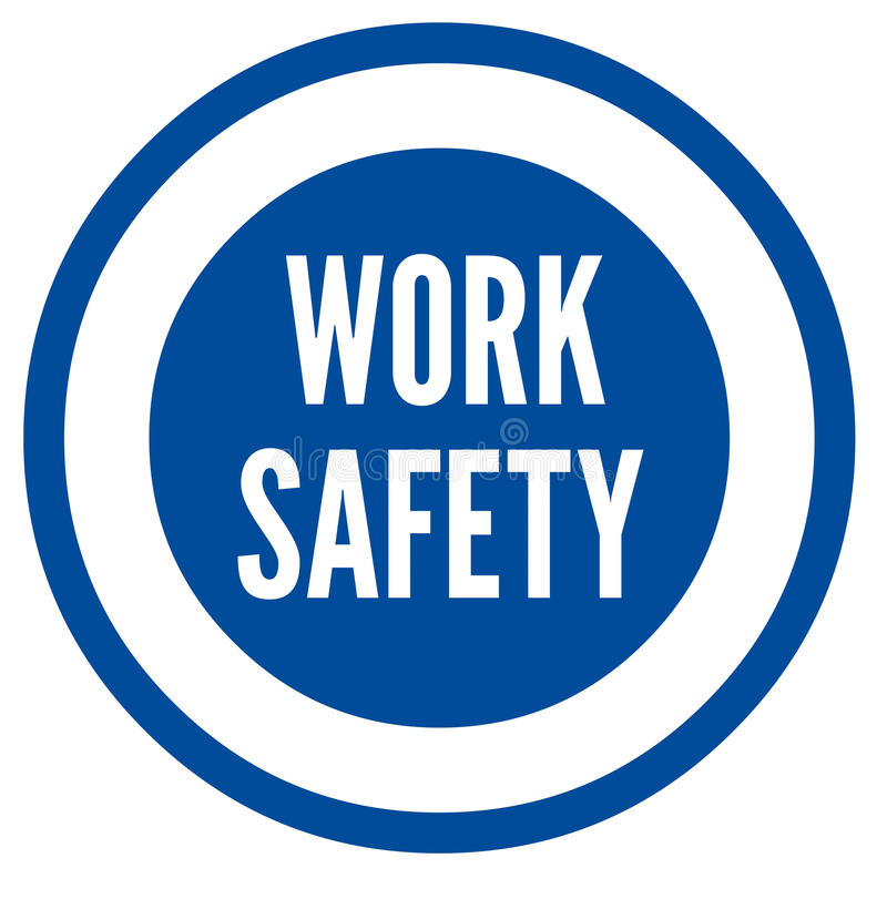 Work safety symbol royalty free illustration