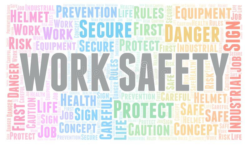 Work Safety word cloud. vector illustration