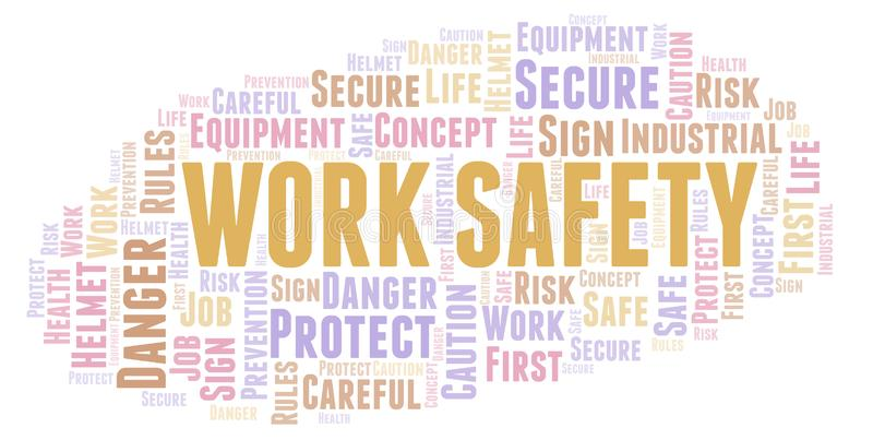 Work Safety word cloud. royalty free illustration