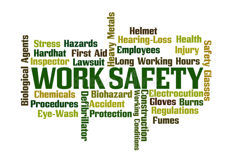 Work Safety royalty free illustration