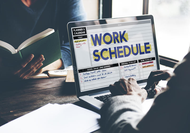 Work Schedule Management Organization Concept.  royalty free stock photos