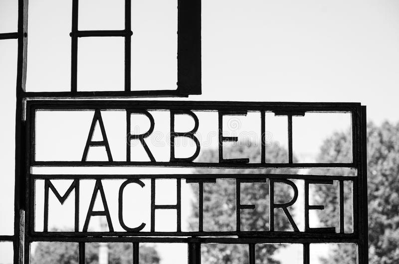 `work sets you free`, Sachsenhausen Concentration Camp stock image