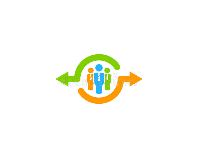 Work Share Icon Logo Design Element royalty free illustration