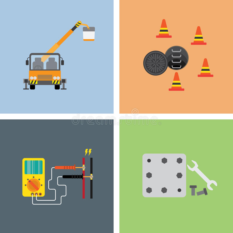 Work on site industry 2 stock illustration
