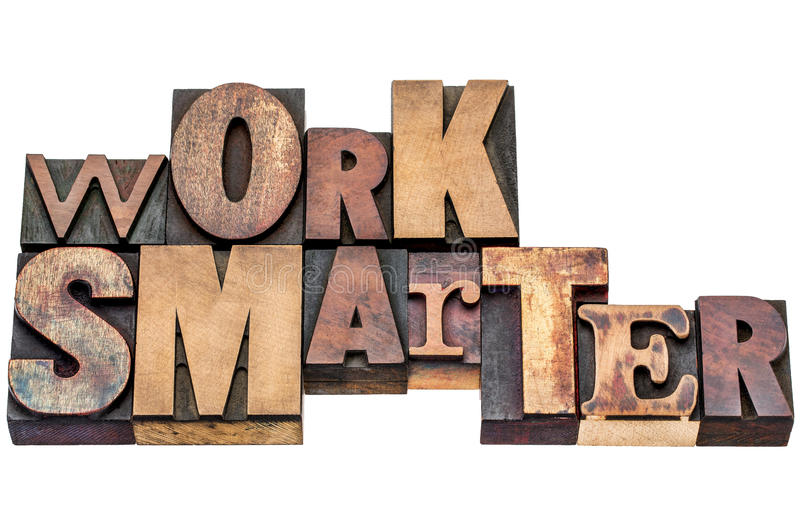 Work smarter in mixed wood type stock photography