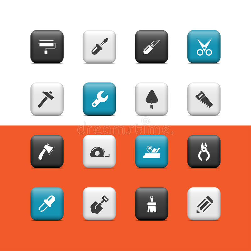 Download Work Tools Buttons Royalty Free Stock Photo - Image: 26830265