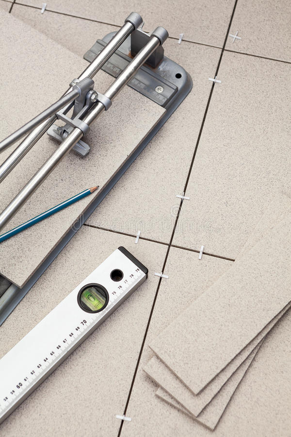 Work Tools For Installing The Floor Stock Image - Image of ...