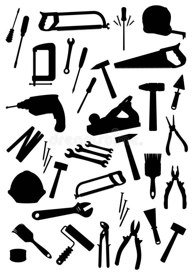 Download Work Tools Isolated Vector Icons Set Stock