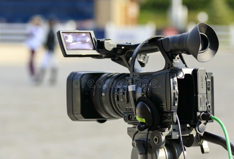 Work videographer camera stock photo