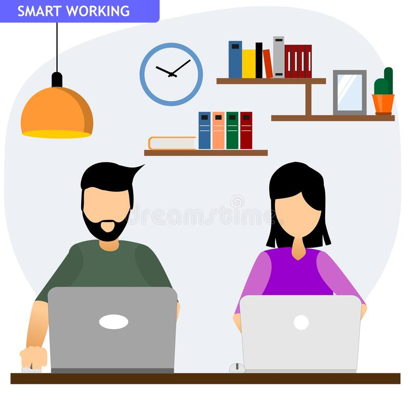 Free Work With Their Laptop From Home Royalty Free Stock Photo - 181835145