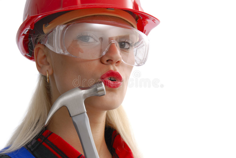 Work woman royalty free stock photography