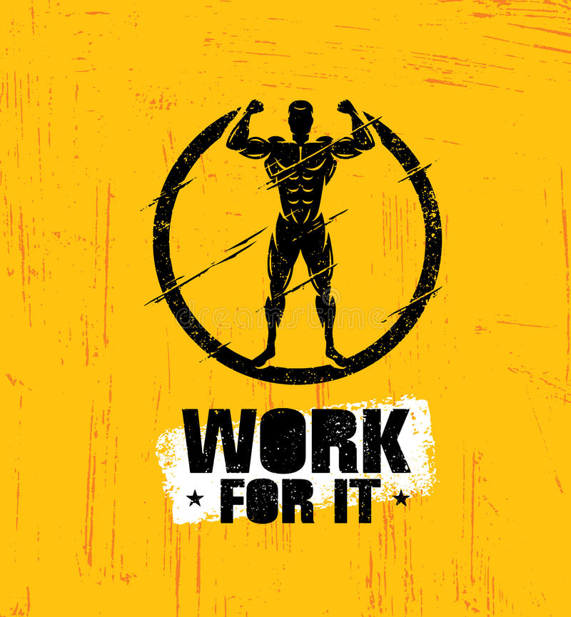 Download Work For It Workout And Fitness Gym Design Element Concept Creative Sport Custom