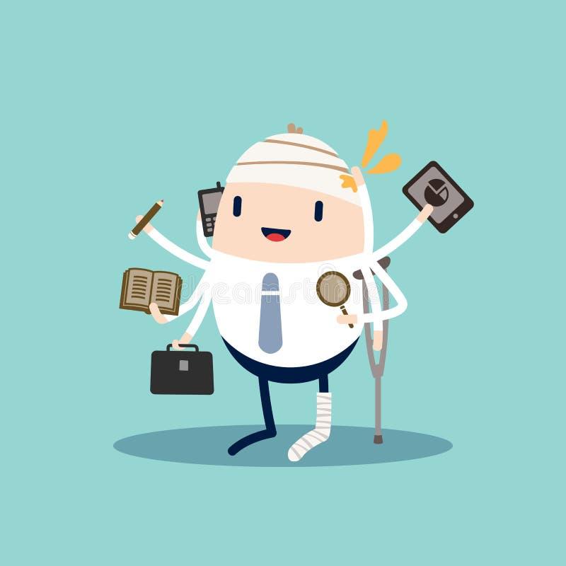 Workaholic stock illustration