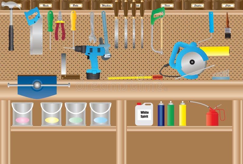 workbench illustrazione di stock