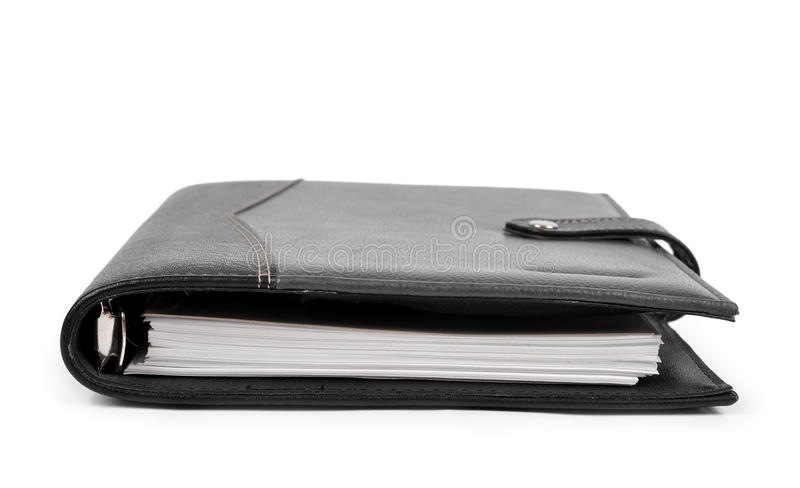 Workbook. Isolated on white background stock photo