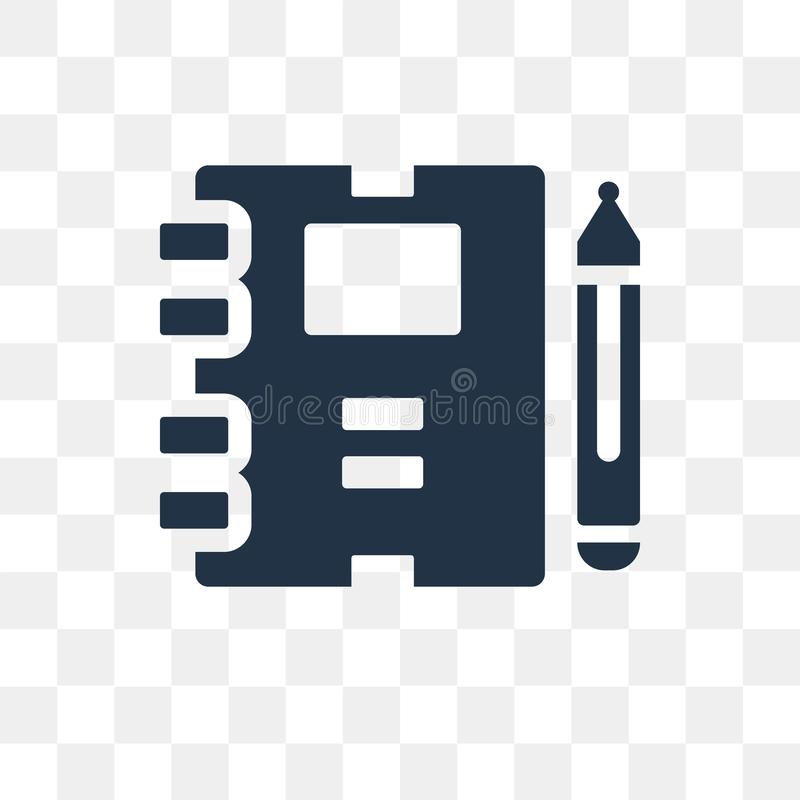 Workbook vector icon isolated on transparent background, Workbook transparency concept can be used web and mobile. Workbook icon vector illustration