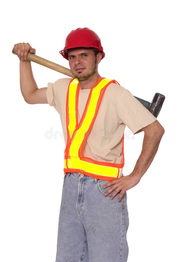 Download Worker stock image. Image of worker, build, sledgehammer - 1400235