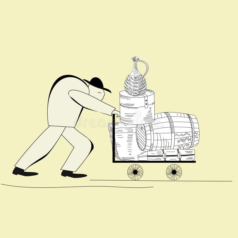 Download Worker stock vector. Illustration of male, cask, worker - 15398334