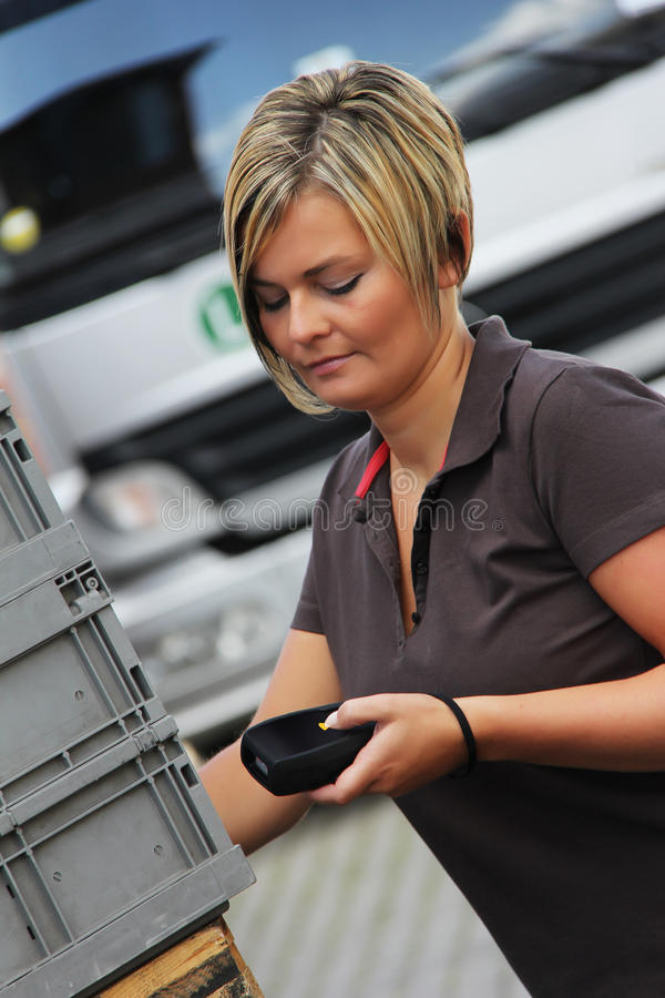 Download Worker stock image. Image of identification, container - 21176675