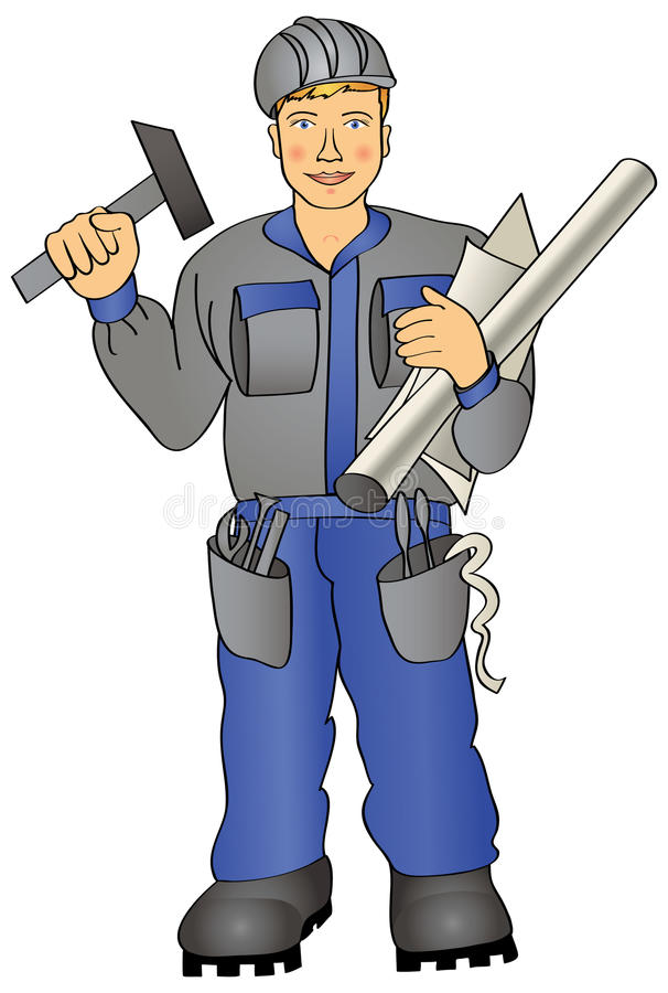 Download Worker stock vector. Image of clothes, technician, speciality - 21362880