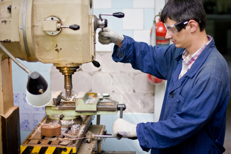 Download Worker stock image. Image of yellow, cutter, mechanical - 25886901