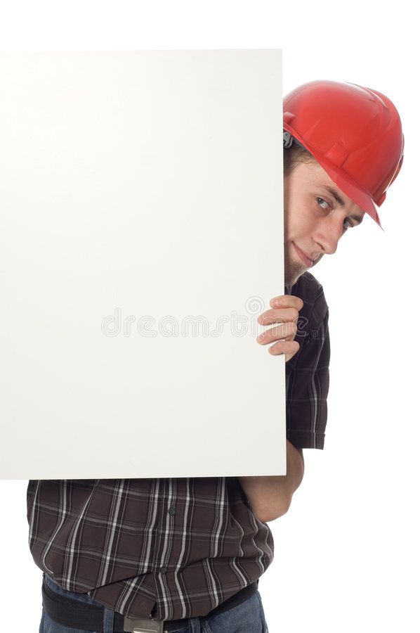 Download Worker with banner stock image. Image of people, adult - 6014239
