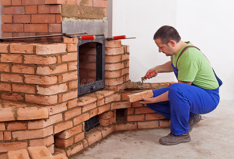 Download Worker Building Masonry Heater Stock Photo - Image: 27825548
