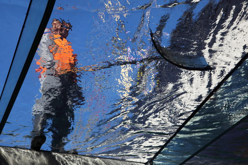 Download Worker cleaning glass stock image. Image of rook, water - 11300865