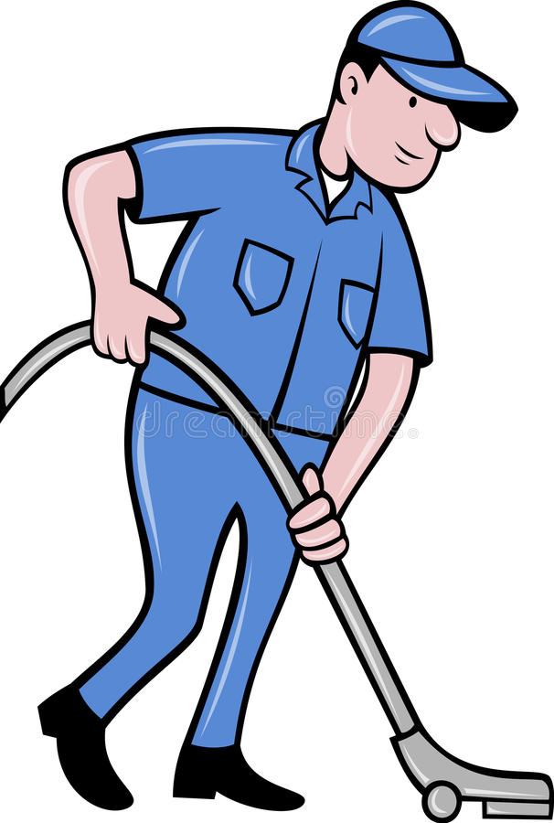 Download Worker Cleaning Vacuum Cleaner Stock Illustration - Image: 19484693